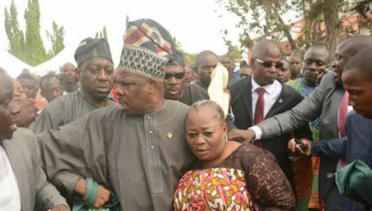 Why This Woman Was Attacked At Adeleke's Burial
