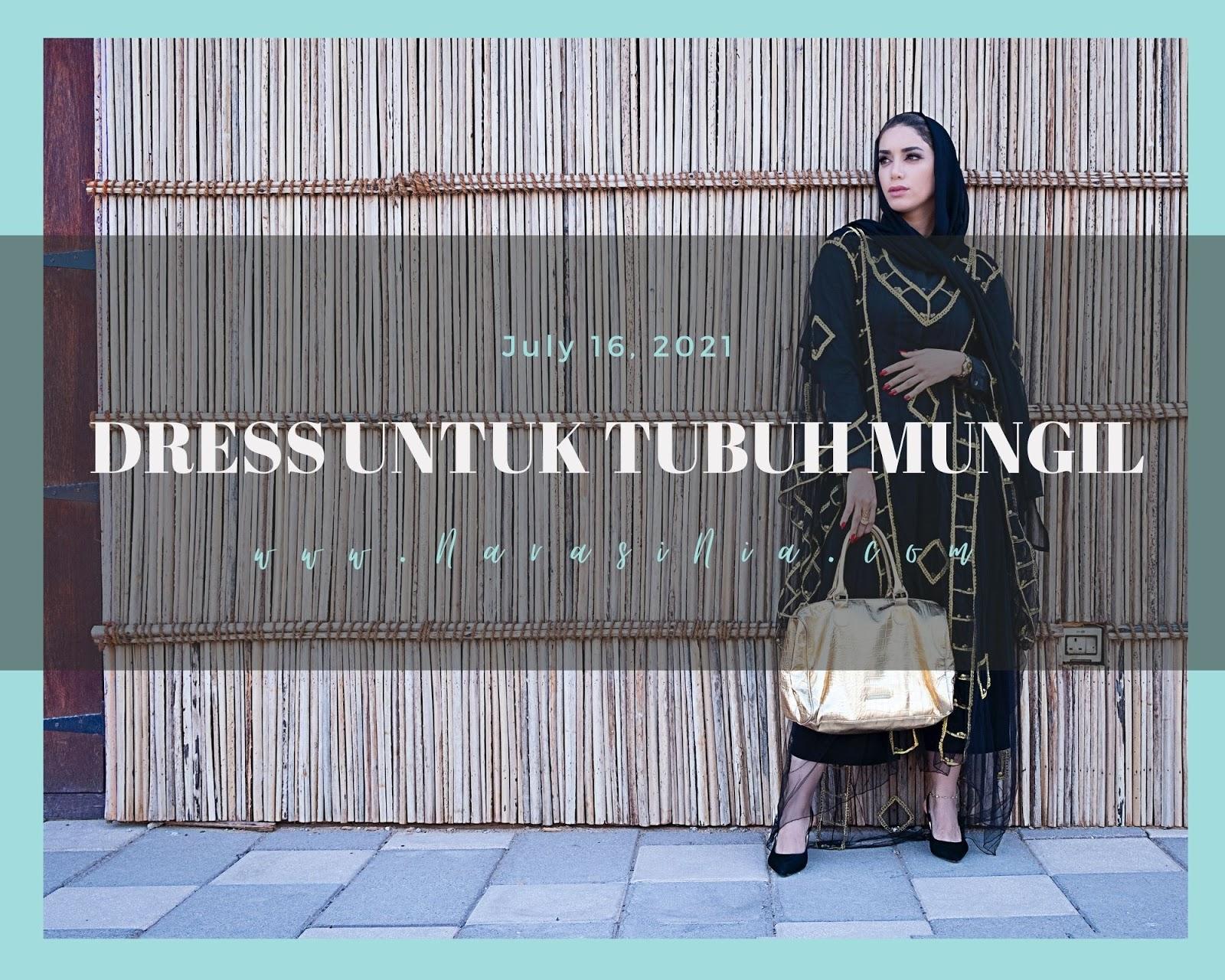 model dress hijab untuk orang pendek