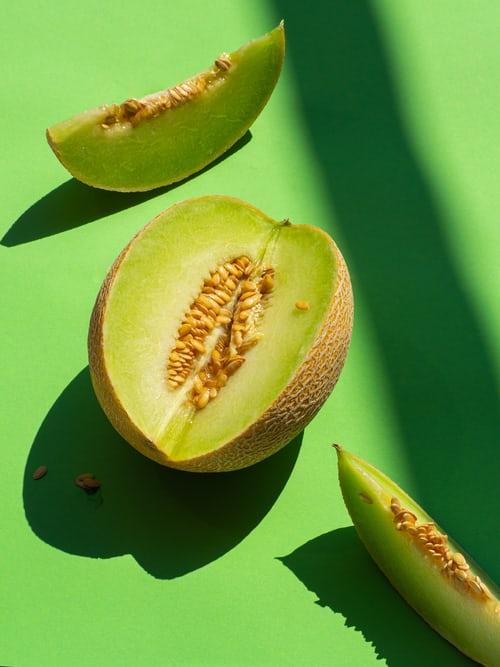 Honeydew Melon and Crunchy Bran Pots
