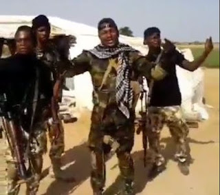 THIS WILL MAKE YOUR DAY!!! Nigerian Soldiers Rendering A Melodious Song In The Northeast (Watch Video)