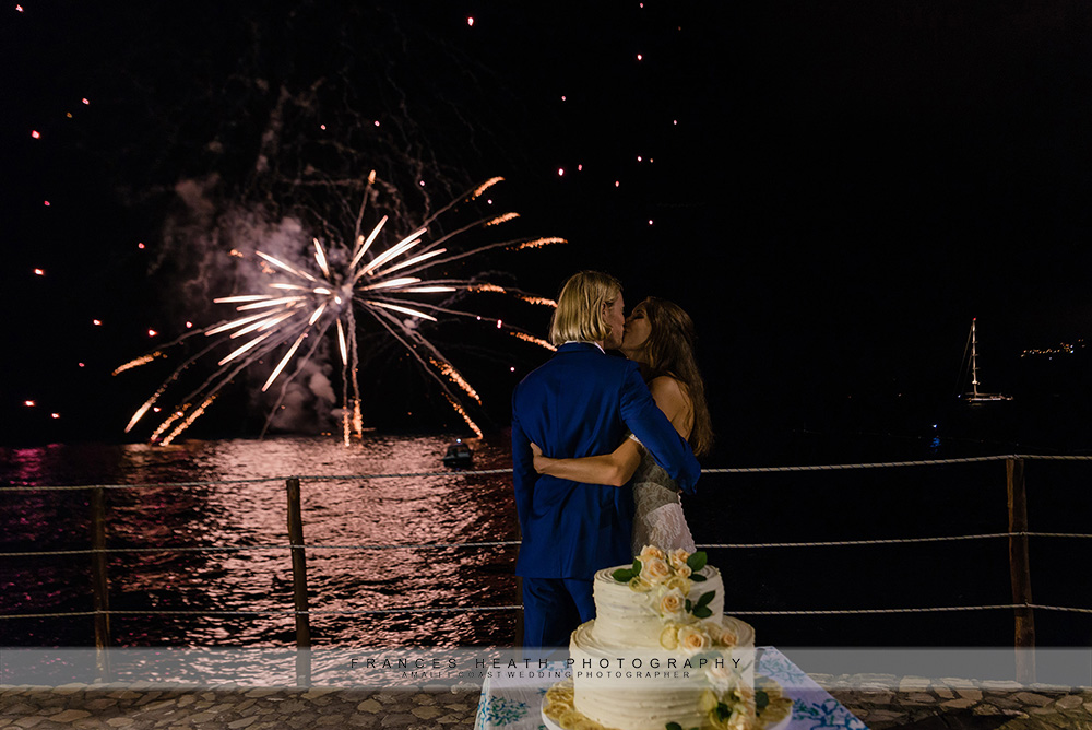 Firework display for the cutting of the cake at hotel San Pietro