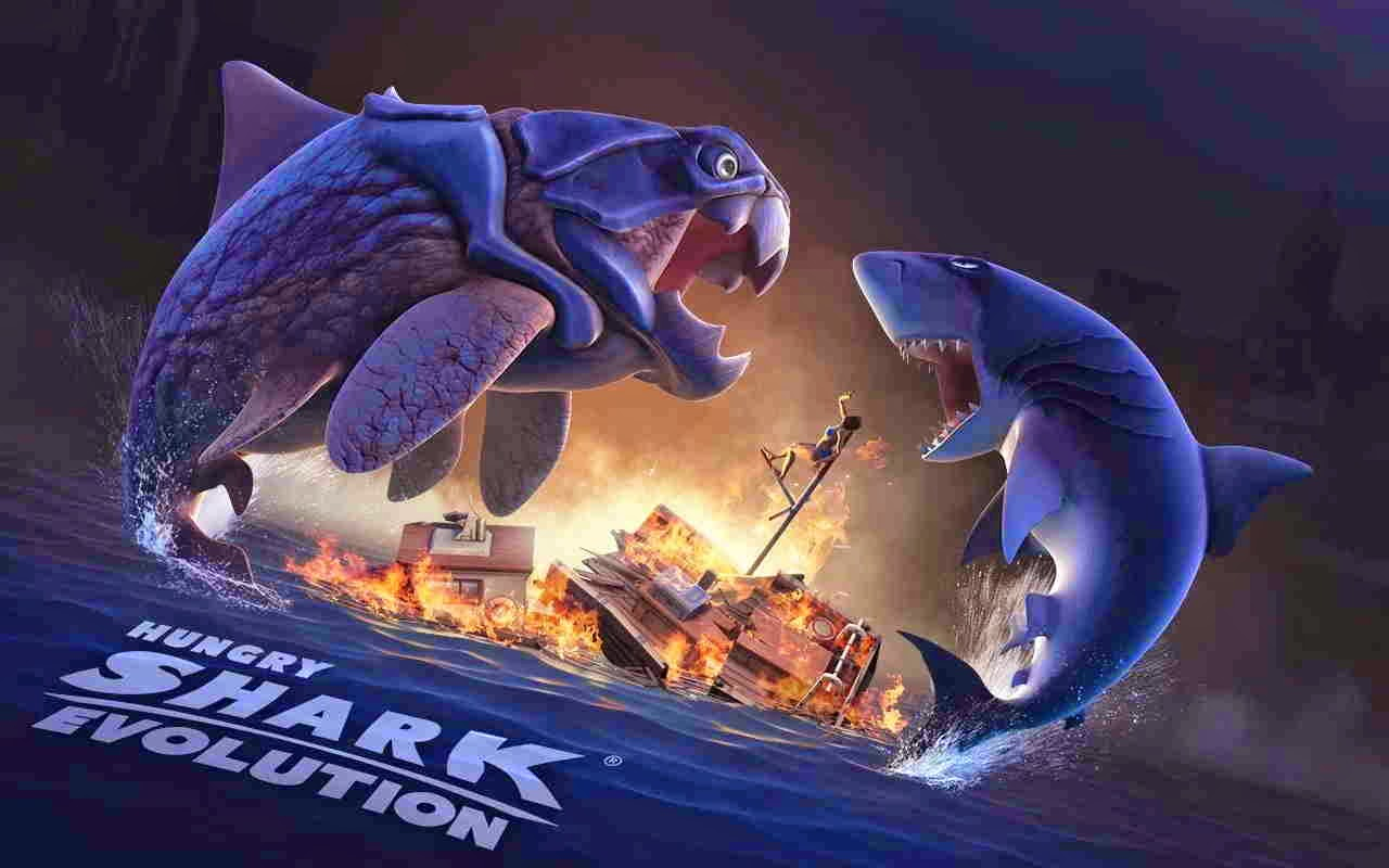 hungry shark evolution unlimited coins and gems download apk