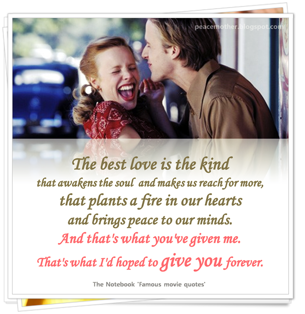Romantic Movie Quotes: Peace Mother: November 2016