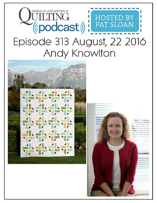 Andy Knowlton as a guest on the American Patchwork and Quilting Podcast