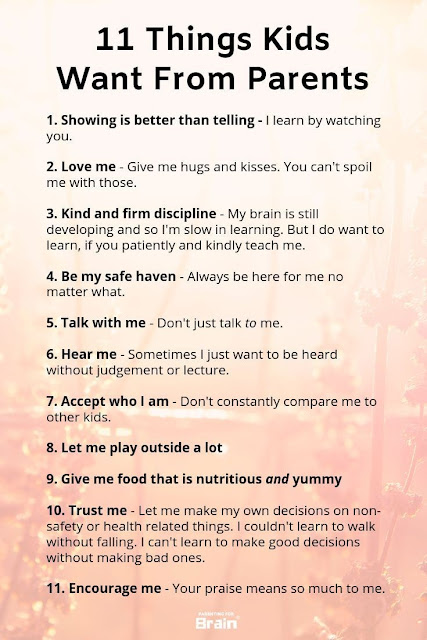 Things Kids Want From Parents