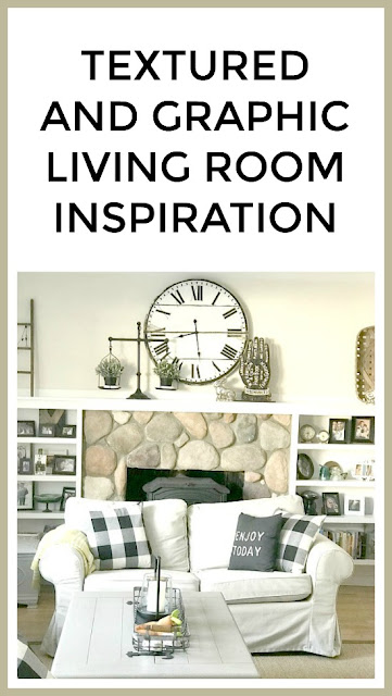 textured and graphic living room inspiration
