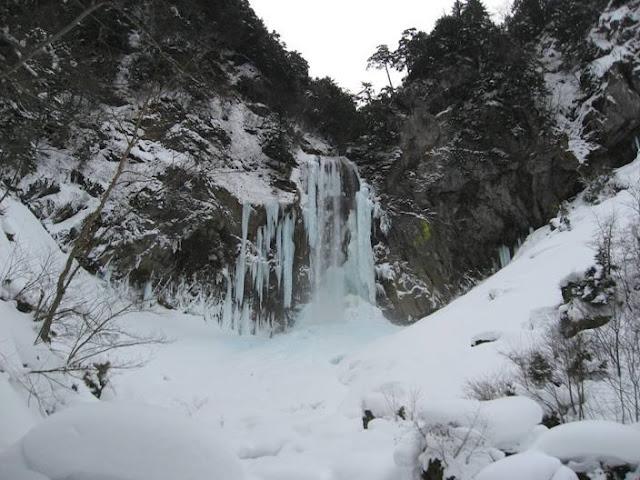 Iced Waterfall Festival at Hirayu Hot Springs, Takayama City, Gifu Pref.
