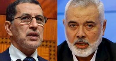 رئيس المكتب السياسي لحركة حماس إسماعيل هنية يهاتف سعد الدين العثماني