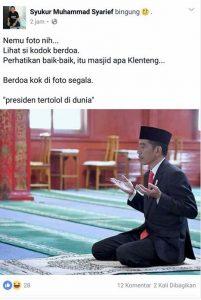 Polisi Selidiki Pemilik Akun Facebook yang Hina Presiden Jokowi