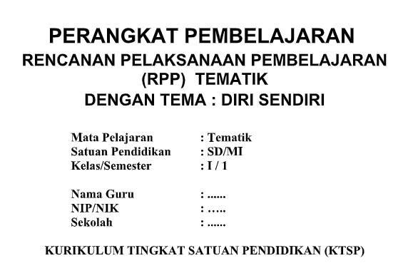 Silabus RPP Kelas 1 SD/MI Tematik KTSP