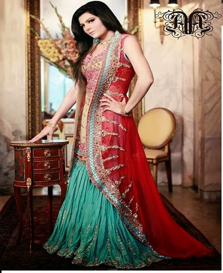 Pictures Of Latest Wedding Gowns: Most Beautiful Latest Bridal Dresses 2014