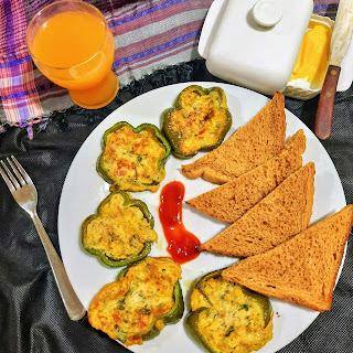 Capsicum rings omelette