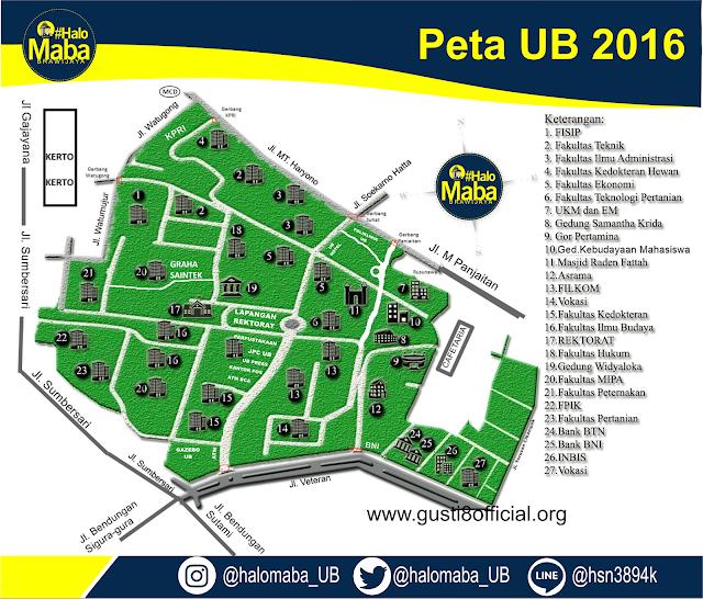 Peta UB, Peta Universitas Brawijaya