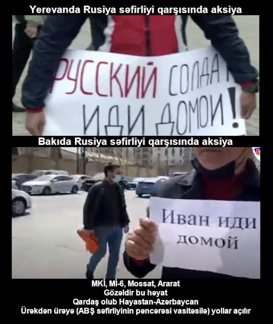 Həm Bakıda, həm də Yerevanda eyni mərkəzdən idarə olunan qüvvələr Rusiya sülhməramlılarının çıxarılmasını tələb edirlər