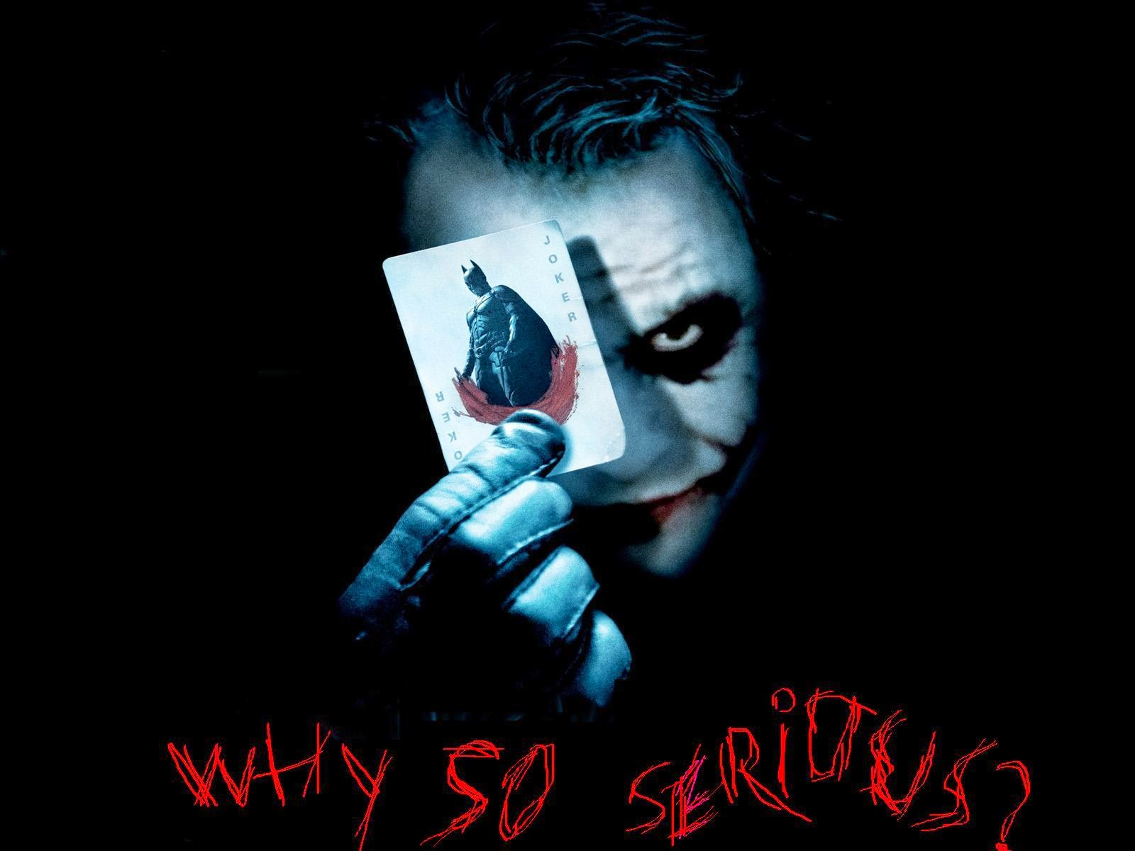 Heath Ledger Why So Serious wallpaper