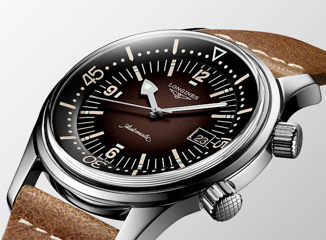 Longines Legend Diver with Brown gradated dial