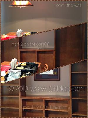 bookshelf setup collage