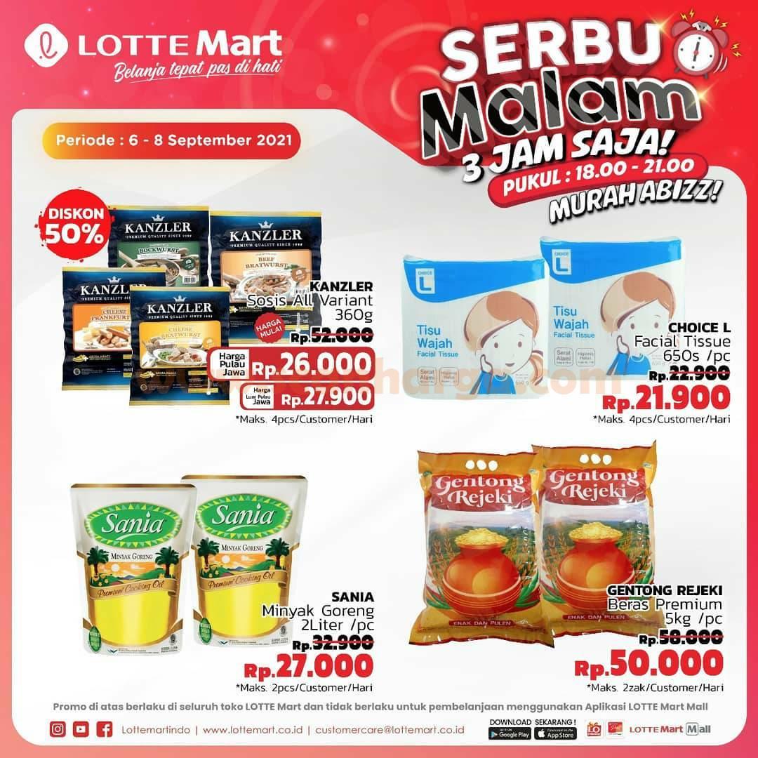 LOTTEMART SERBU MALAM Promo Night Sale Periode 6 - 8 September 2021 1