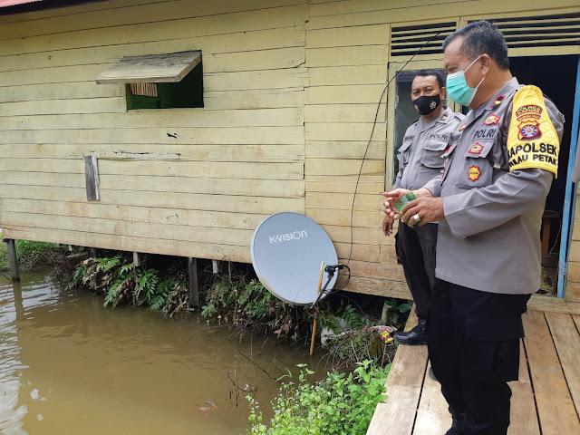 Kapolsek Pulau Petak Monitoring Program Ketahanan Pangan