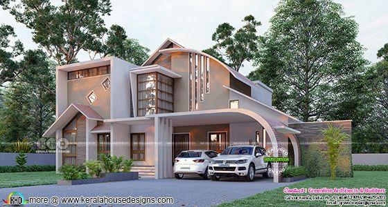 4 bedroom ultra modern house plan