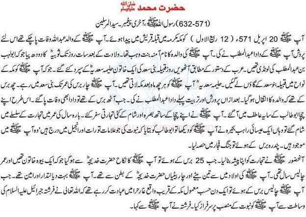 hazrat Muhammad s.a.w.w ki halat e zindagi urdu.JPG