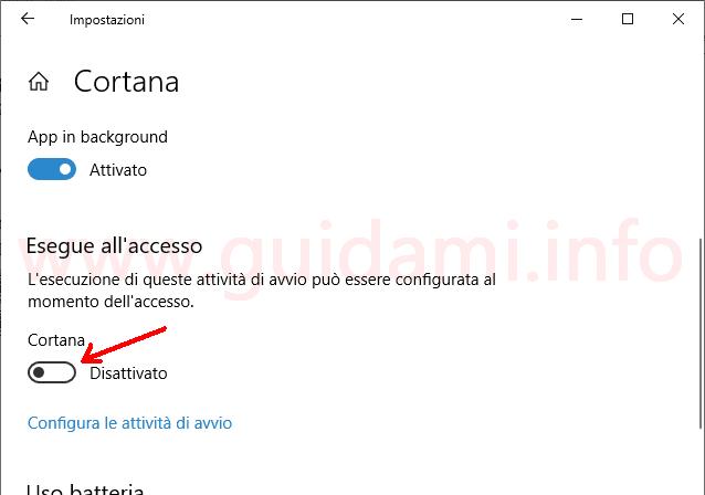 Windows 10 Impostazioni Cortana
