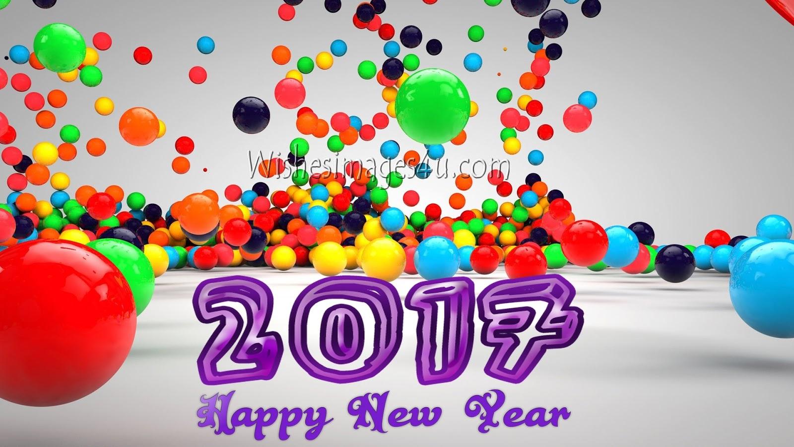3d happy new year 2017 wallpaper