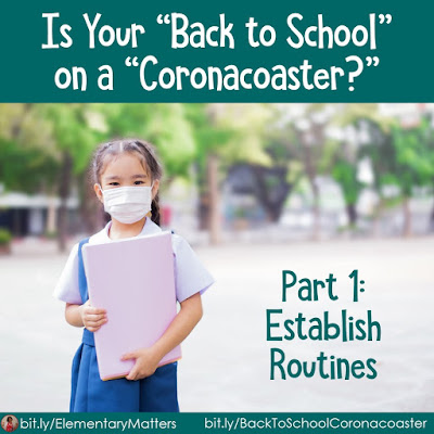 """Is Your """"Back to School"""" on a """"Coronacoaster? Part 1 Establish Routines! The uncertainty of """"Back to School"""" is making it difficult for teachers to plan. Here are some ideas that will help you establish routines, no matter where your class will be!"""