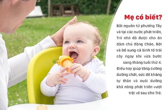 Phương pháp ăn dặm chủ động trong hạnh phúc của các bà mẹ phương Tây!
