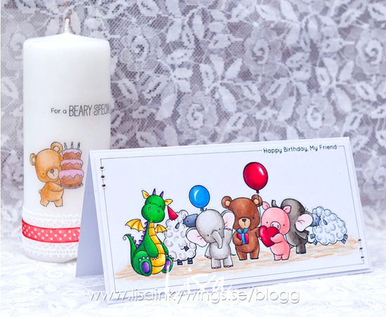 Birdie Brown Adorable Elephants, Beary Special Birthday, Ewe Are the Best, Hog Heaven, and Magical Dragons stamp sets - Lisa Nygards #mftstamps