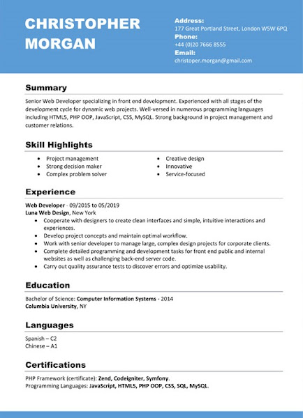 pdf free resume