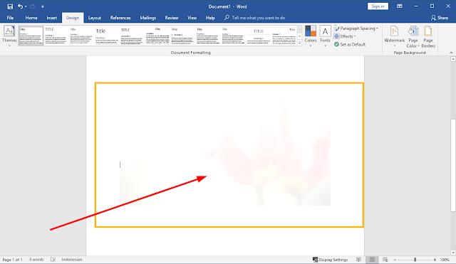 cara mengganti background di word dengan gambar
