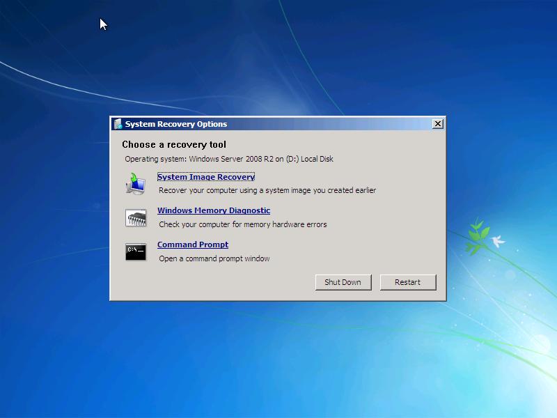 create system repair disk windows server 2008 r2