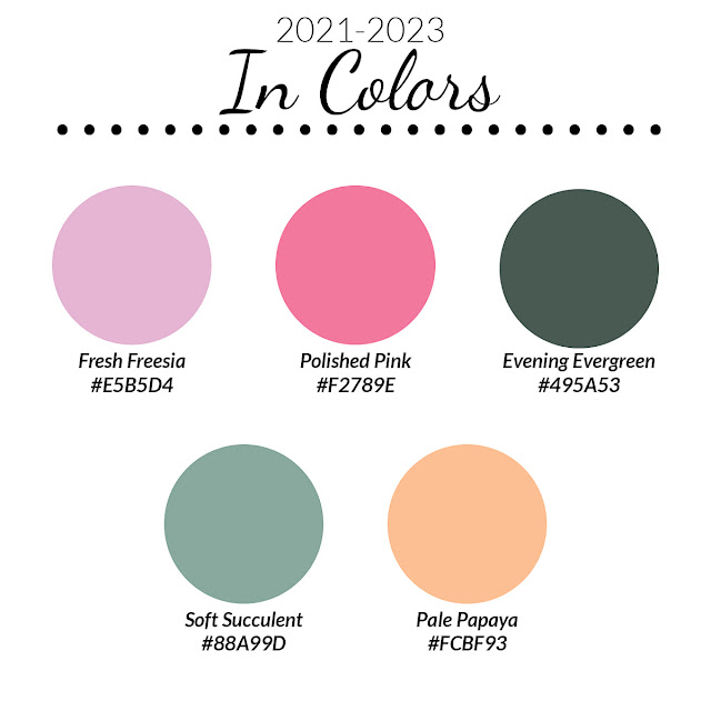 Crafty Challenge May Blog Hop: New Stampin' Up! In Colours