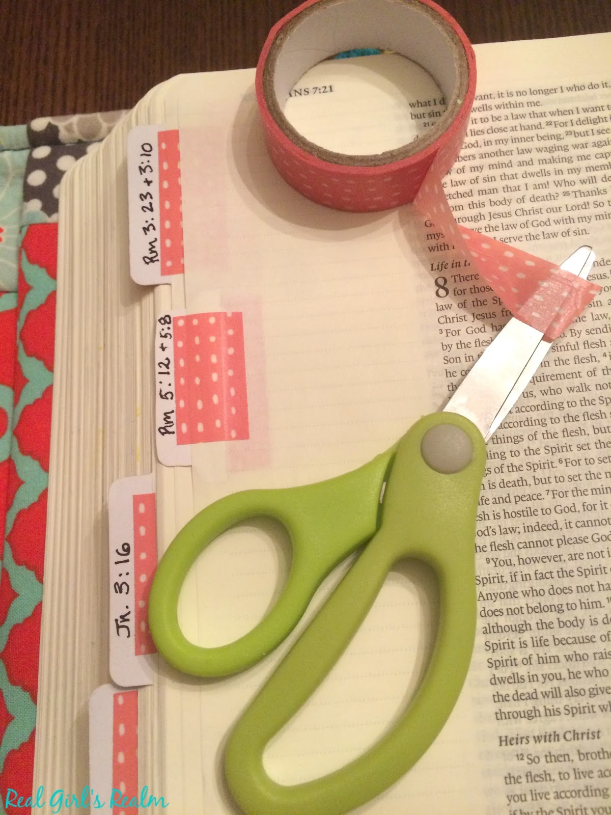 Real Girl 39 S Realm Bible Journaling With Washi Tape