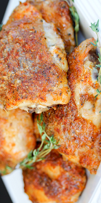 Baked Ranch Crispy Chicken Thighs Recipe