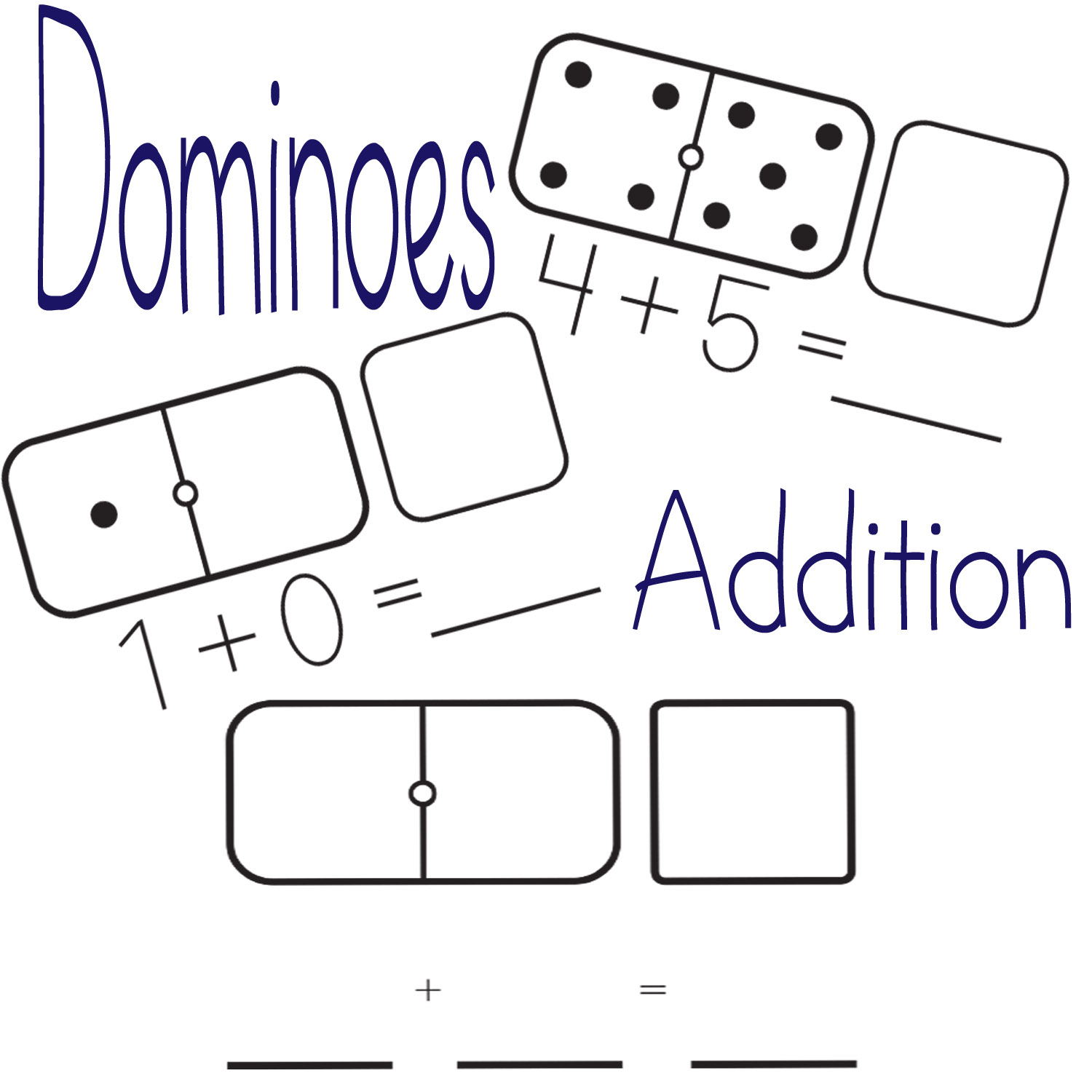 Little Piles Everywhere Addition With Dominoes