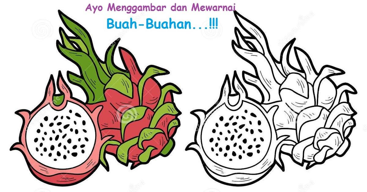 mewarnai gambar buah dan sayuran