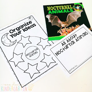 We love reading and learning about nocturnal animals in our kindergarten classroom, but planning meaningful comprehension activities can be a challenge. This Nocturnal Animals: Read & Respond pack made it super easy to teach 5 comprehension skills for 5 of our favorite picture books. Students especially love the themed crafts and writing prompts too!