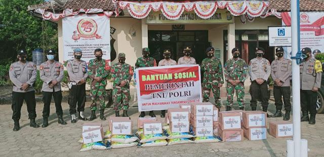Warga Lampura terdampak Covid-19 terima Bantuan Sosial Polres Lampung Utara