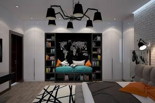 Habitación moderna para adoelscente