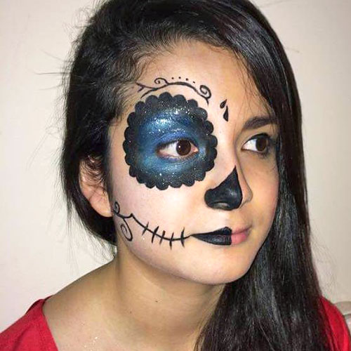 maquillaje de calavera mexicana para niñas