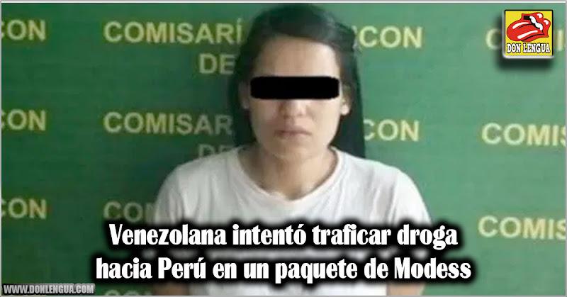Venezolana intentó traficar droga hacia Perú en un paquete de Modess