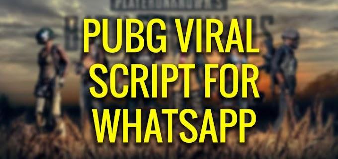 Free PUBG Viral Whatsapp Script (PHP/BLOGGER)