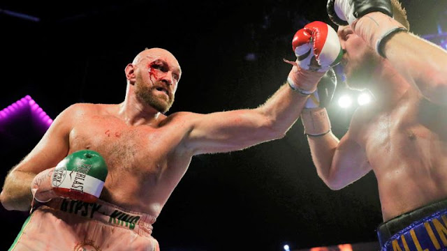 Bloodied Tyson Fury Beats Otto Wallin
