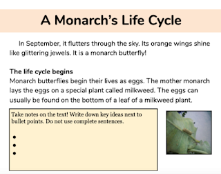 https://www.teacherspayteachers.com/Product/Monarch-Life-Cycle-A-Distance-Learning-Text-5493640