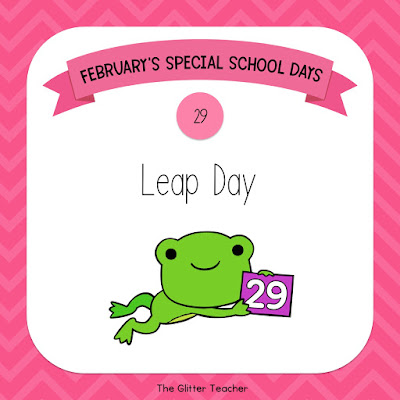 February's Special School Days compilation with teaching ideas