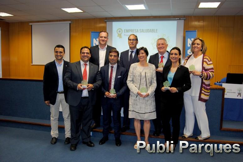 Foto premiados IV Premios MAZ Empresa Saludable