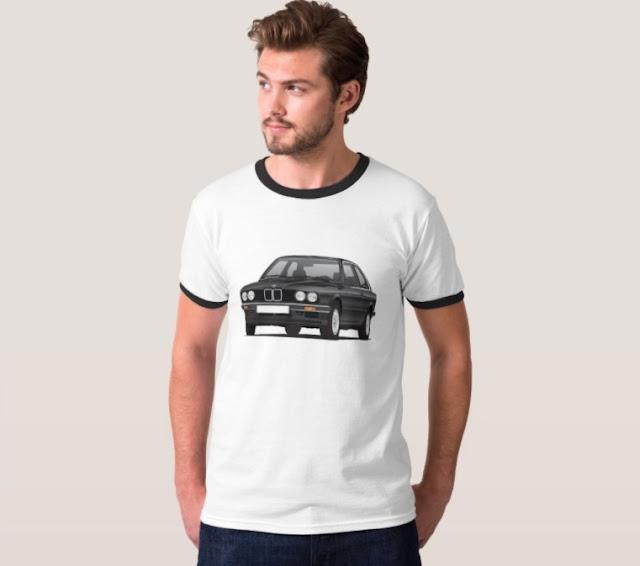 BMW E30 musta t-paidat