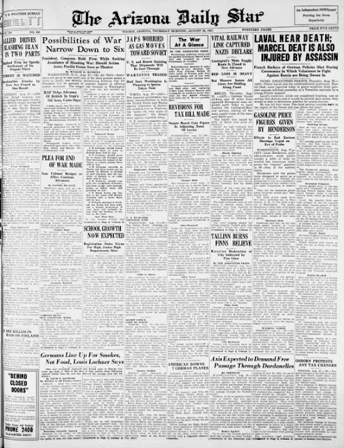 Arizona Daily Star, 28 August 1941 worldwartwo.filminspector.com